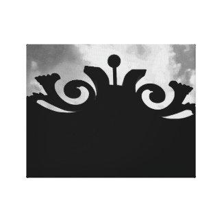 Toile Porte noire nuageuse