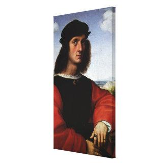 Toile Portrait d'Agnolo Doni par Raphael Sanzio