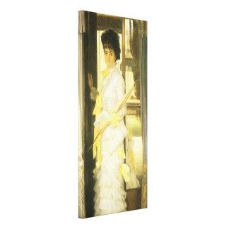 Toile Portrait de Mlle Lloyd par Tissot, beaux-arts