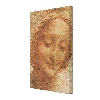 Toile Portrait de saint Anne par Leonardo da Vinci