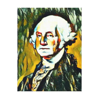 Toile Portrait d'huile de George Washington