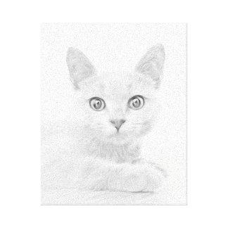 Toile Portrait MIGNON SUPERBE de chat de chaton