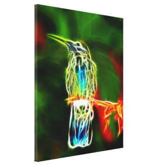 Toile Portrait spectaculaire de colibri