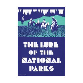 Toile Poster vintage de parcs nationaux des Etats-Unis