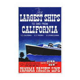 Toile Poster vintage reconstitué par Californie des
