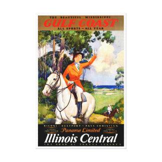 Toile Poster vintage reconstitué par Mississippi de