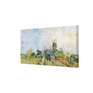 Toile Potager de Van Gogh dans Montmartre, beaux-arts