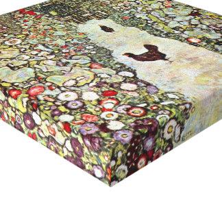 Toile Poulets du chemin W de jardin, Gustav Klimt, art