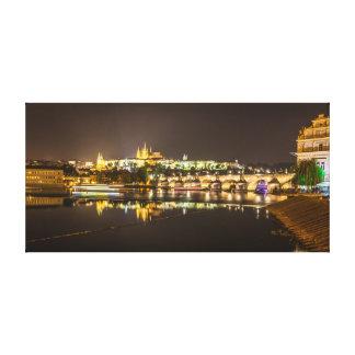 Toile Prague - château et pont de Charles
