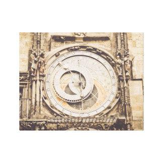 Toile Prague, horloge astronomique de République Tchèque