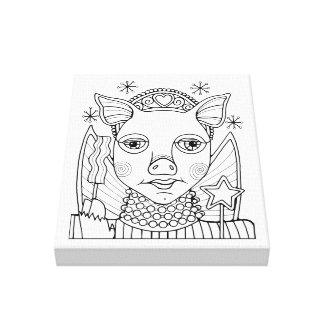 Toile Princesse féerique conception de lard de schéma