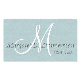 Toile professionnelle et bleu-clair décorée d un m cartes de visite personnelles
