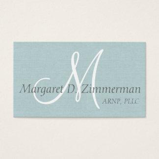 Toile professionnelle et bleu-clair décorée d'un carte de visite standard