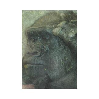 Toile Profondément dans le gorille de pensée