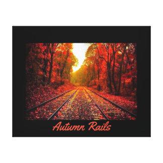 Toile Rails d'automne
