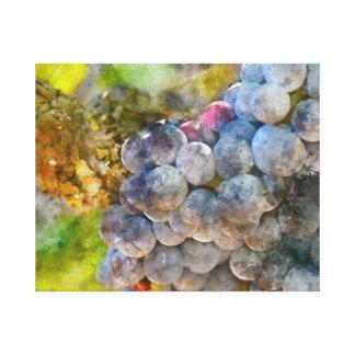 Toile Raisins sur la vigne