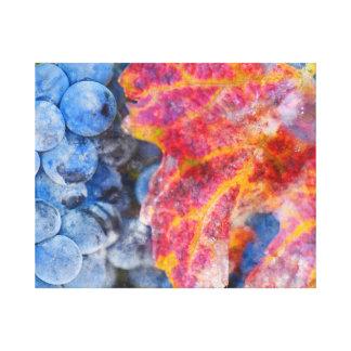 Toile Raisins sur la vigne pendant la saison d'automne