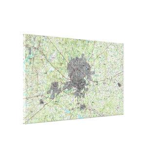 Toile Raleigh la Caroline du Nord Map (1990)