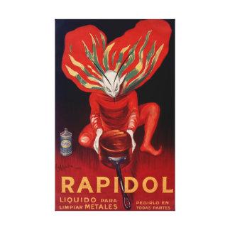 Toile Rapidol, affiche parlante espagnole polonaise en