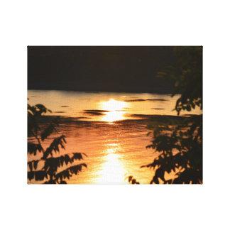 Toile Réflexions de coucher du soleil