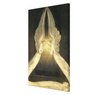 Toile Religion vintage, portrait de la prière d'anges