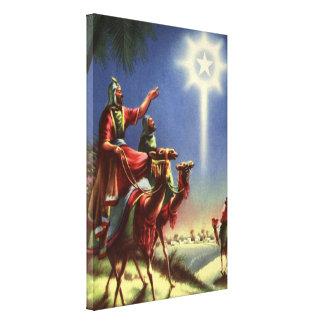 Toile Religion vintage, sages avec l'étoile de Bethlehem