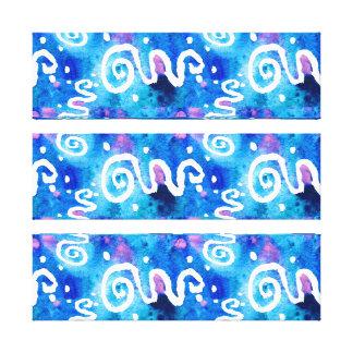 Toile Remous bleus de blanc de lavage