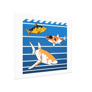Toile Requins de Koi