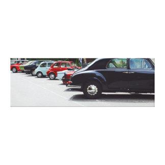 Toile Rétro exposition de voitures