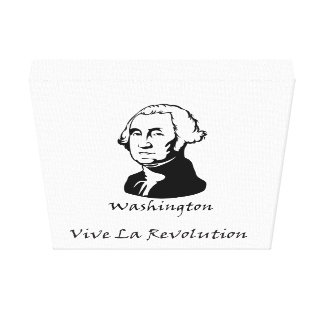 Toile Révolution de La de George Washington Vive