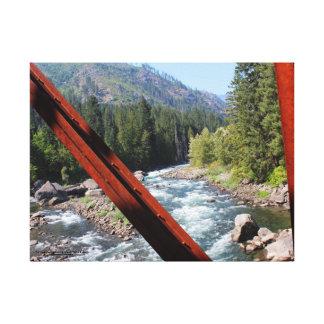 Toile Rivière de Wenatchee de vieux pont de canalisation