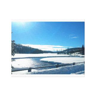 Toile Rivière d'hiver dans Yellowstone