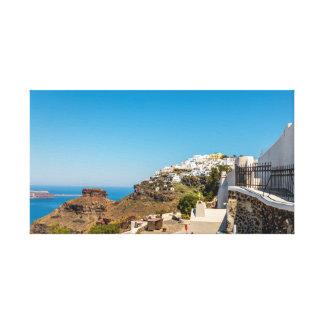 Toile Roche d'Imerovigli, de Santorini et de Skaros
