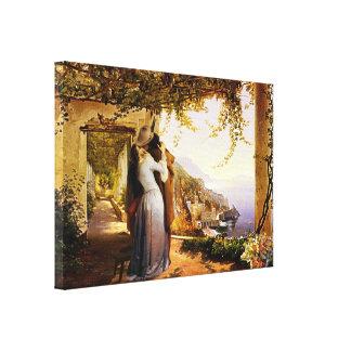 Toile Romance vintage en Italie a enveloppé la copie de