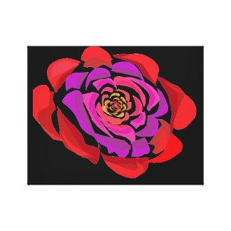 Toile Rose rouge avec du charme de pourpre votre copie
