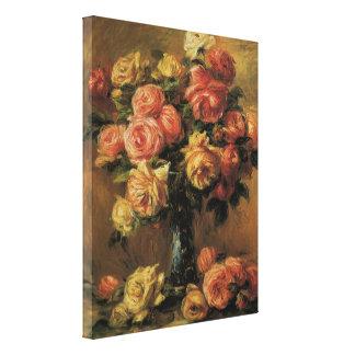 Toile Roses dans un vase par Pierre Renoir, beaux-arts