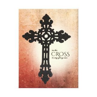 Toile Rouge chaud dans la foi chrétienne croisée