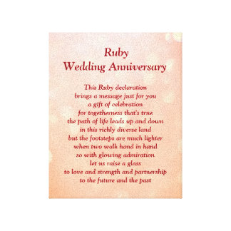 Toile rouge d'anniversaire de mariage