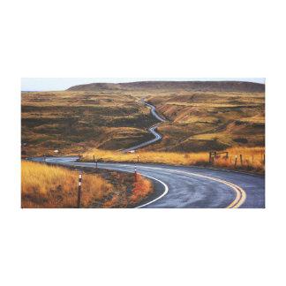 Toile Route de campagne près de plaine de la route   de