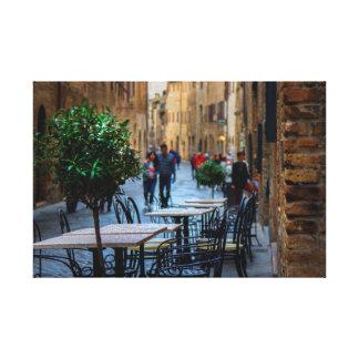 Toile Rues de San Gimignano