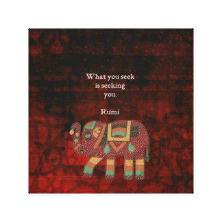 Toile Rumi inspiré ce qui vous cherchez la citation