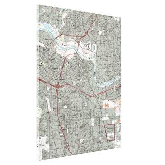 Toile Sacramento la Californie Map (1992)