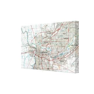 Toile Sacramento la Californie Map (1994)