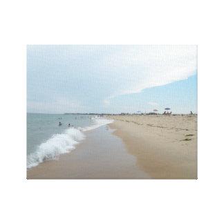Toile Scène sereine de plage pendant l'après-midi