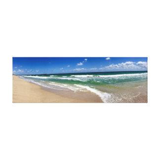 Toile Scène vibrante de plage