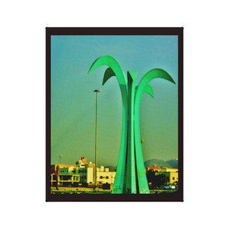 Toile Sculpture en palmier