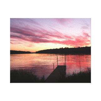 Toile sereine de photographie de coucher du soleil