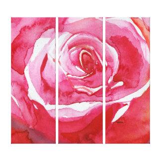 Toile S'est levé l'abrégé sur orange rose rouge peinture