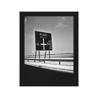 Toile Signe de route du Bahrain