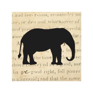 Toile silhouette rustique d'éléphant de contrat